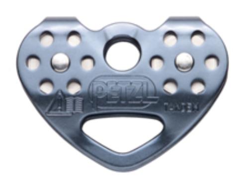 Polia Dupla de Alumínio e Aço Inox para Cabo de Aço ou Corda até 13mm (Locação)
