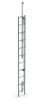 Suporte Superior com Extensão para a Barra de Apoio para Linha de Vida Vertical em Escada Fixa (Locação)