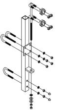 Suporte Inferior para Linha de Vida Vertical em Escada Fixa (Locação)