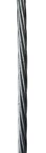 Cabo de Aço Galvanizado 3/8'' - 1 x 7 - 10m para Sistema de Trava Quedas em Escada - Linha de Vida Vertical (Locação)