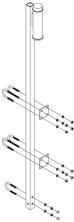 Suporte Superior para Linha de Vida Vertical em Escada Fixa (Locação)